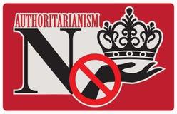 Denegación al autoritarismo stock de ilustración