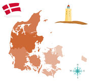 Denemarken royalty-vrije stock afbeeldingen