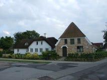 2008 denemarken Løjt Kirkeby Oude huizen Royalty-vrije Stock Foto