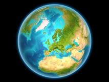 Denemarken op aarde Stock Fotografie