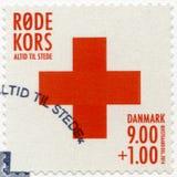 DENEMARKEN - 2014: toont Rood Kruis Royalty-vrije Stock Afbeelding