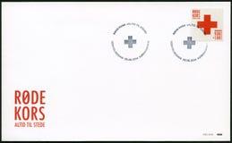 DENEMARKEN - 2014: toont Rood Kruis Royalty-vrije Stock Foto