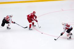 A. Denezhkin 14 vs E. Martynov 55 and E. Medvedev 82 Royalty Free Stock Photos