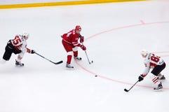 A Denezhkin 14 vs E Martynov 55 och E Medvedev 82 Royaltyfria Foton
