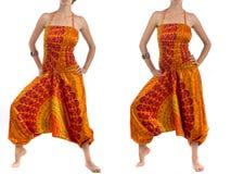 Denfärg haremmen flåsar med den indiska modellen Royaltyfria Bilder