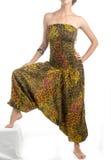 Denfärg haremmen flåsar med den indiska modellen Fotografering för Bildbyråer