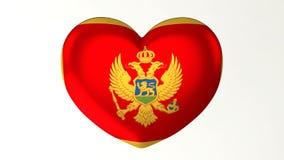 denformade illustrationen för flaggan 3D älskar jag Montenegro royaltyfri illustrationer