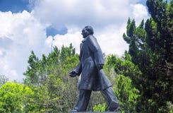 Deng Xiaoping statue Lianhuashan park stock photo