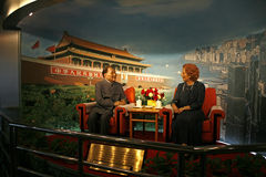 Deng Xioping meeting British Primie Minister Margaret Thatcher Royalty Free Stock Photography