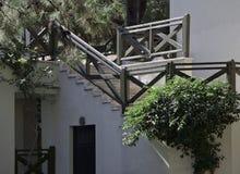 Dengjorde genomvåt trappan av semesterorten Royaltyfri Bild
