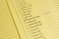 Dengue positive Stock Images