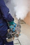 Dengue preventive. Fogging to dengue preventive by killing Aedes mosquito Stock Images