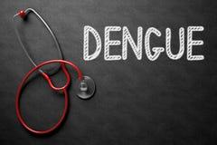 Dengue - texto no quadro ilustração 3D Foto de Stock Royalty Free