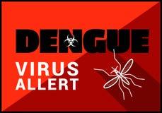 Dengue virus allert vector outline Royalty Free Stock Photography