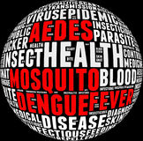 Denguefeberinfo-text Arkivbild
