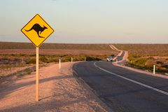 The road to Monkey Mia. Denham. Shark Bay. Western Australia. Denham is the administrative town for the Shire of Shark Bay, Western Australia; Denham is the stock image