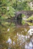Denham most w Devon na jesieni popołudniu Zdjęcie Royalty Free