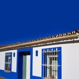Denia村庄地中海门面在阿利坎特 免版税库存照片