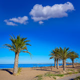 Denia海滩在蓝色地中海的阿利坎特 库存照片