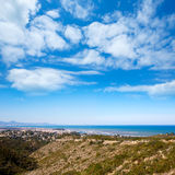 Denia in Alicante aerial view Valencian Community of spain Stock Photos