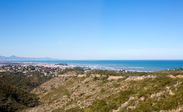 Denia in Alicante aerial view Valencian Community of spain Stock Photo