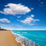 Denia Alicante beach with blue summer sky in Spain Stock Photography