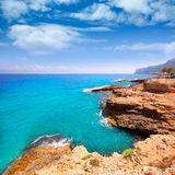 Denia Alicante Las rotas rocky beach in Spain Stock Photo
