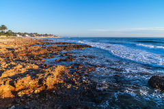 Denia Alicante Las rotas rocky beach in Spain Royalty Free Stock Image