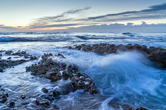 Denia Alicante Las rotas skalista plaża w Hiszpania obrazy royalty free