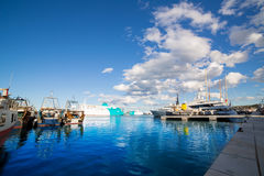 Denia Alicante port with blue summer sky in Spain Royalty Free Stock Photography