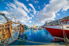Denia Alicante port with blue summer sky in Spain Royalty Free Stock Images