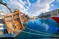Denia Alicante port with blue summer sky in Spain Stock Image