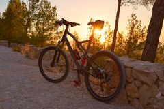Denia Alicante von Montgo mit MTB stockfotografie