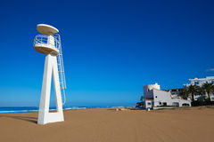 Denia beach Las Marinas baywatch tower in El Moli Royalty Free Stock Photography