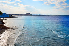 Denia beach Las Rotas in summer at Alicante Stock Image