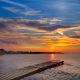 Denia beach sunset Mediterranean Alicante Spain Stock Photo