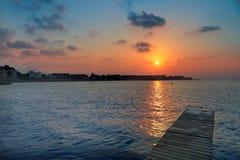 Denia beach sunset Mediterranean Alicante Spain Royalty Free Stock Photo