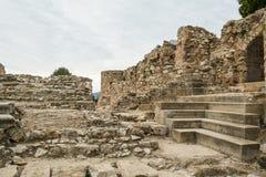 Denia castle remains Stock Photos