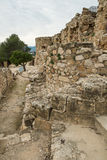 Denia castle remains Stock Image