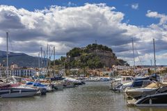 Denia en Espagne Photo stock