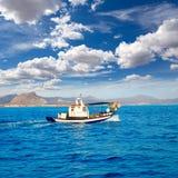 Denia fisherboat sailing Mediterranean sea Alicante Royalty Free Stock Photos