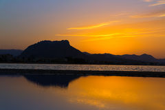 Denia Las Marinas sunset beach Punta Molins Spain Royalty Free Stock Image