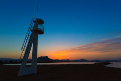 Denia Las Marinas sunset beach Punta Molins Spain Stock Image