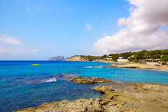 Denia Las Rotas beach in Alicante costa Blanca Royalty Free Stock Photo