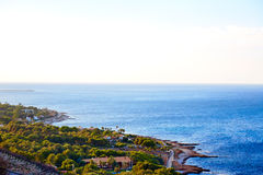 Denia Las Rotas beach in Mediterranean Spain Royalty Free Stock Photography