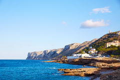 Denia Las Rotas beach in Mediterranean Spain Stock Image