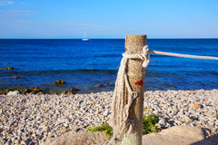 Denia Las Rotas beach in Mediterranean Spain Stock Images