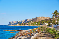Denia Las Rotas beach in Mediterranean Spain Royalty Free Stock Image