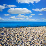 Denia Las Rotas beach in Mediterranean Spain Stock Photography
