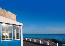 Denia Las Rotas Blue House In Mediterranean Sea Royalty Free Stock Photo